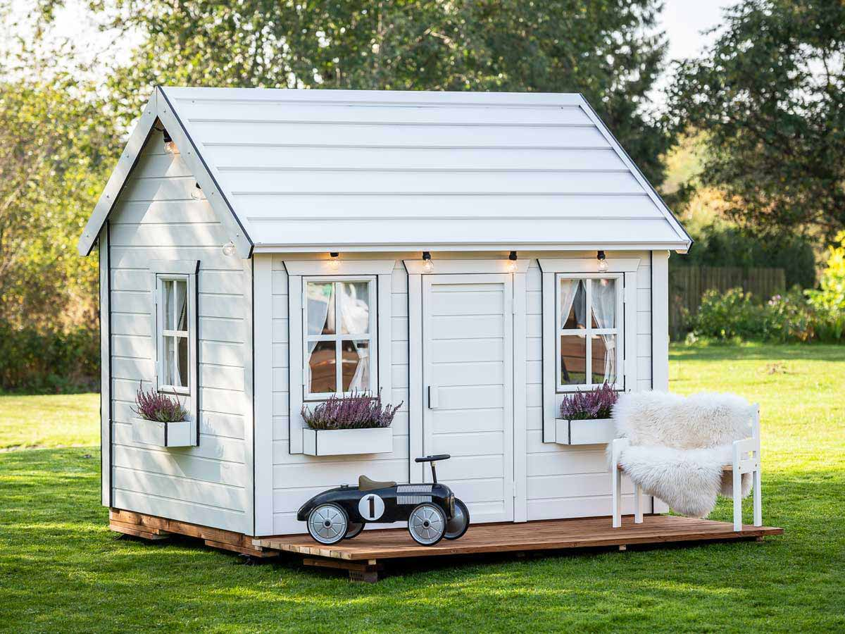 White outdoor playhouse Arctic Nario by Whole Wood Playhouses
