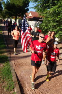 Runners at the 2014 NightRider Patriot Day Run & Ride