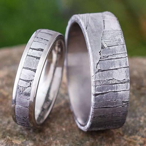 Seymchan Meteorite Rings