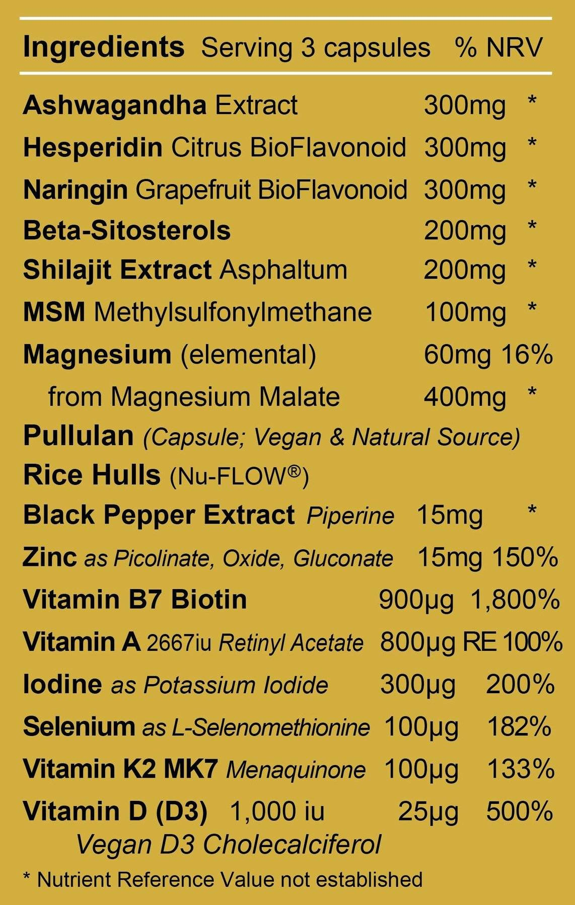 Mens 3 Ingredients