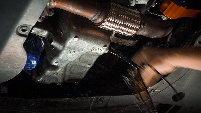 2017 Honda Civic - Careful - oil comes out hot!