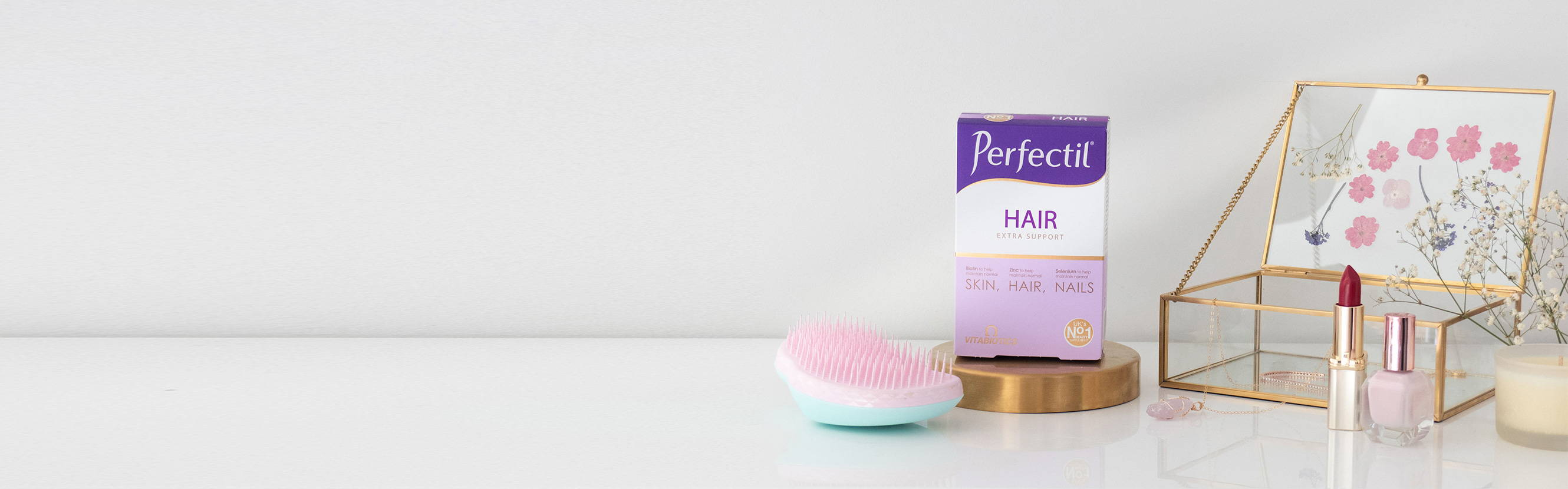 Perfectil Hair Product On Dressing Table