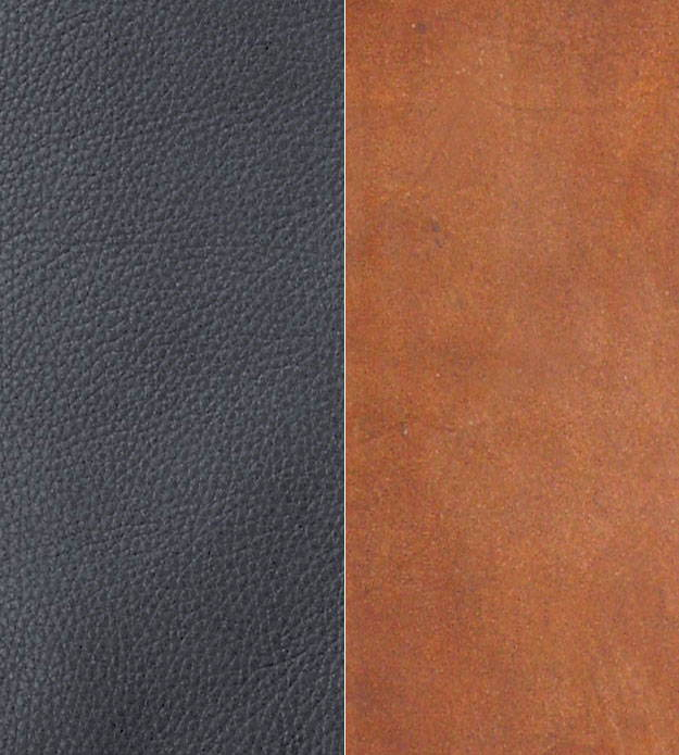 swatches of leather hides