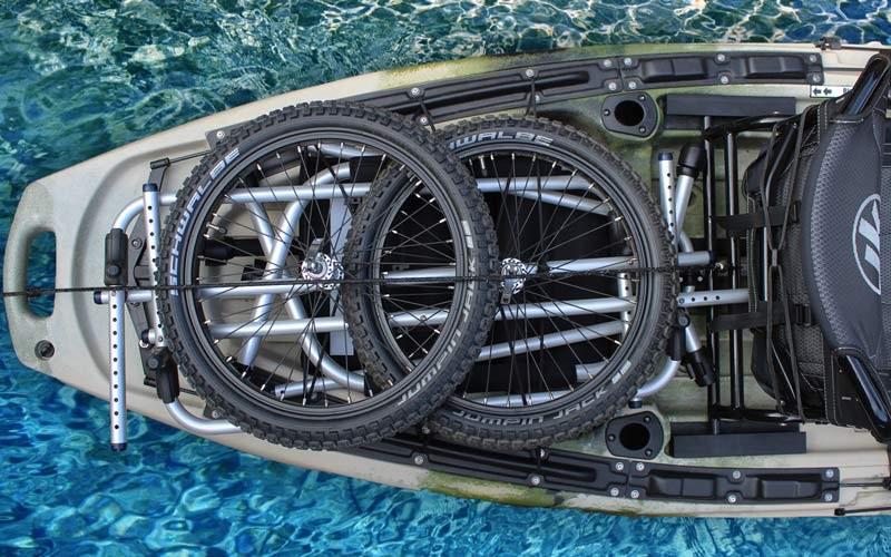 Zerlegbarer Fahrradanhänger für Angler