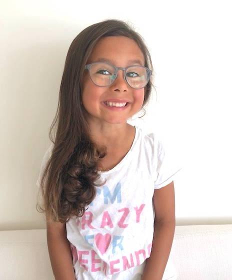 Ellie wearing Jonas Paul Eyewear Girls Glasses