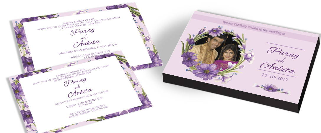 Love is in the air - Floral Invitation for Indian Marriage