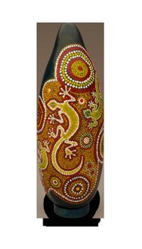Gecko Gourd Art by Claudia Herber
