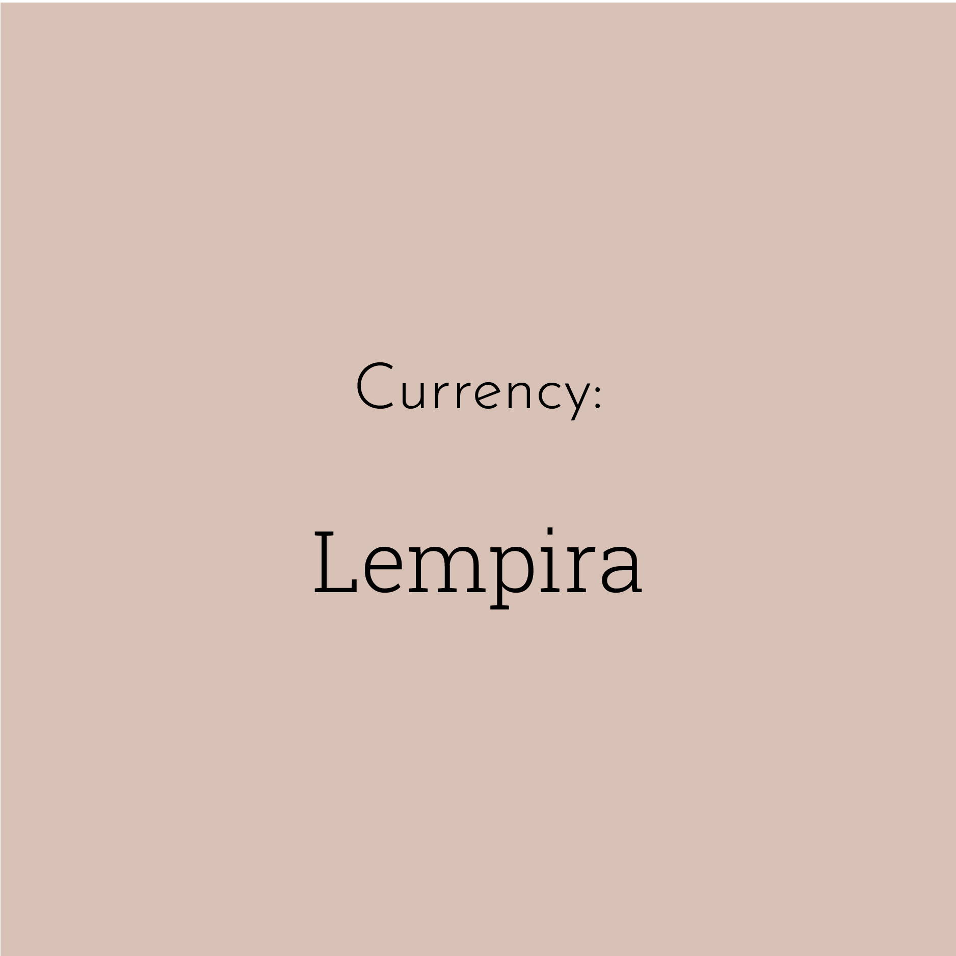 "A solid brown block contains the text ""Lempira"""