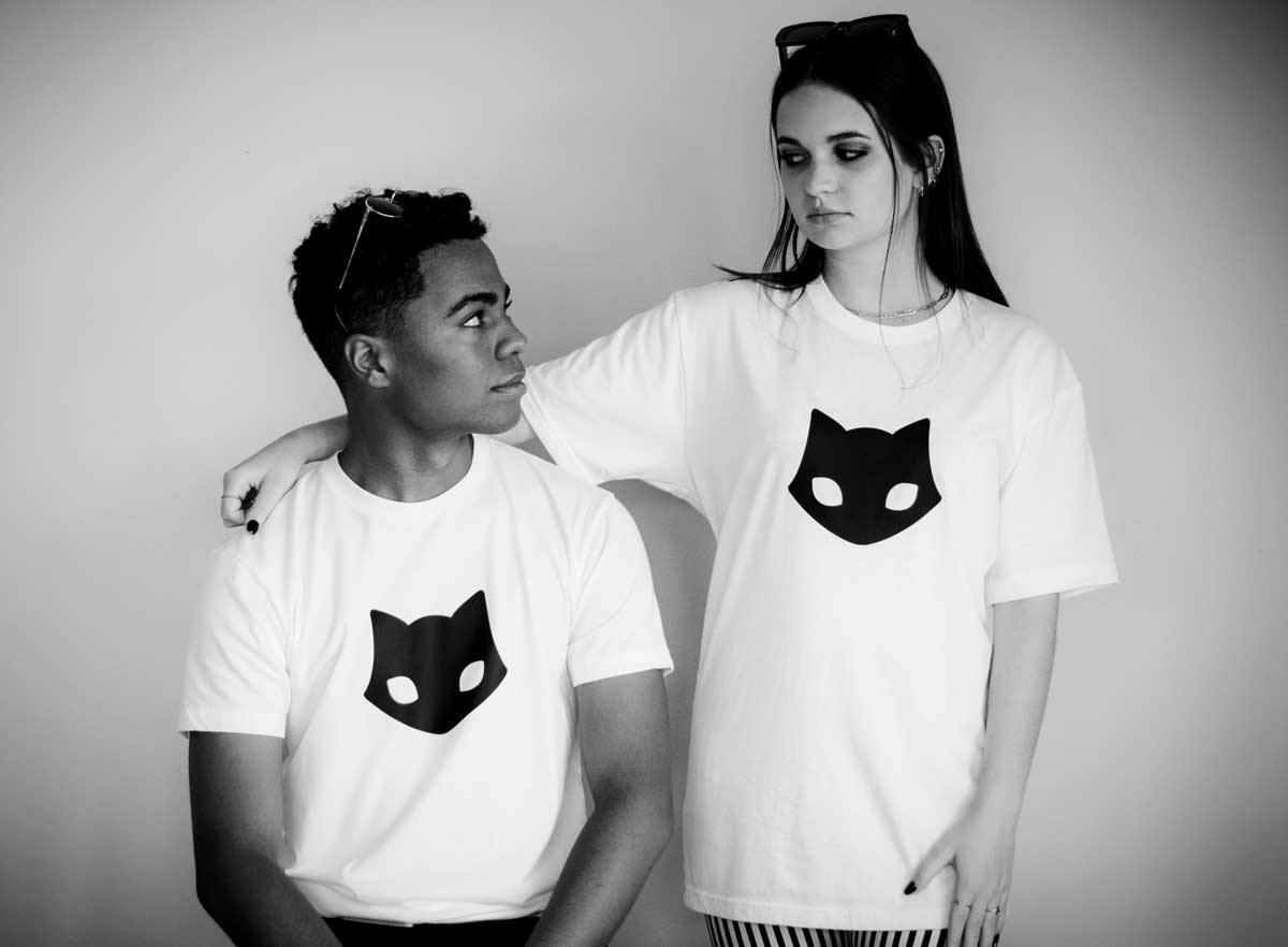 Spooky Cat Image - Spooky Merchandise - T-Shirts