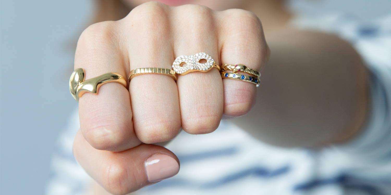 18k rings on hand