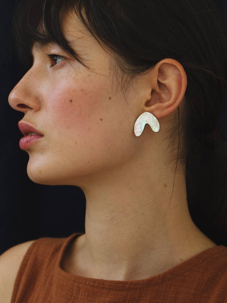 Cassia Studs in Mother of Pearl