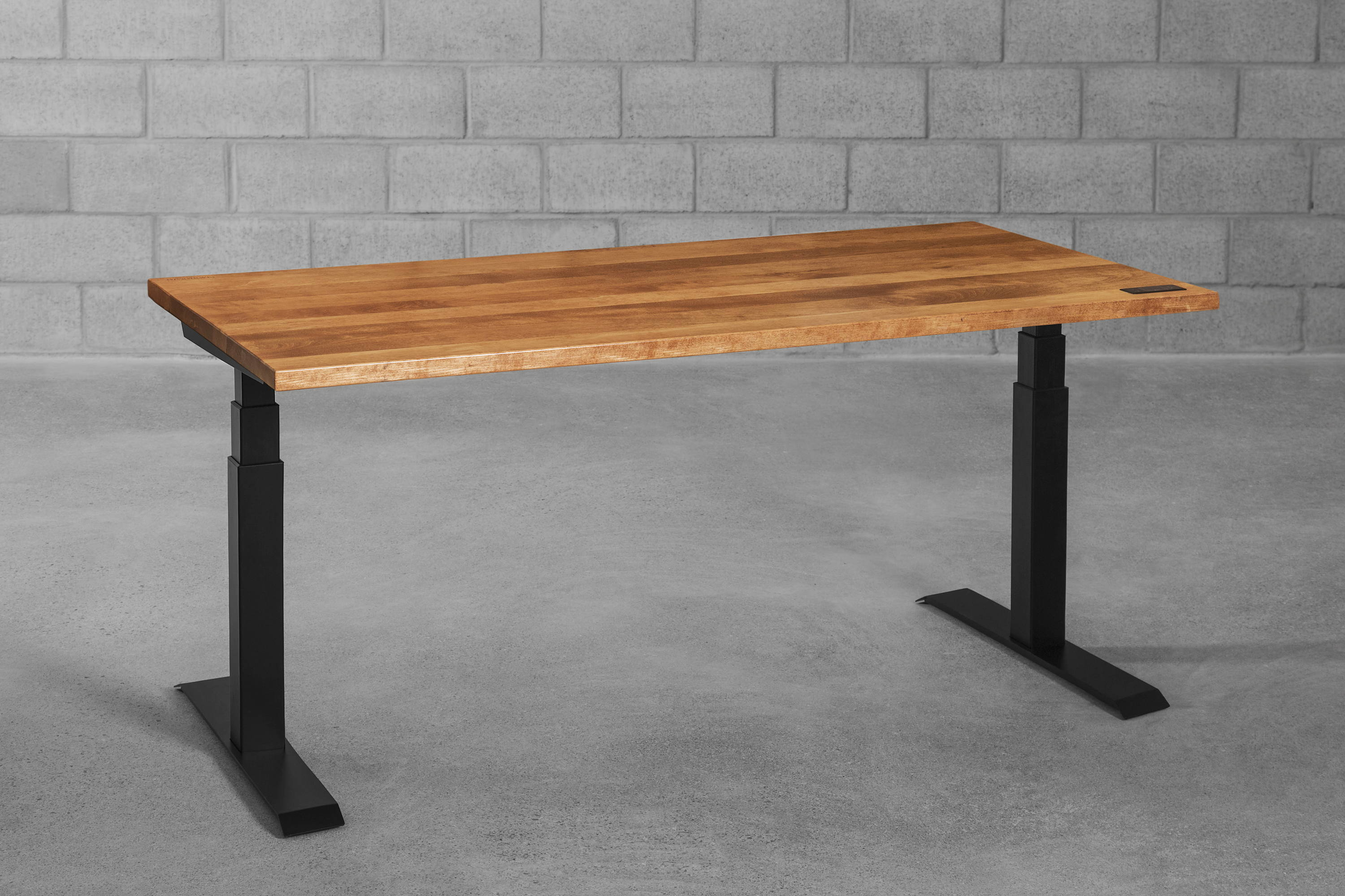 Sway sit-stand desk - cherrywood from ergonofis