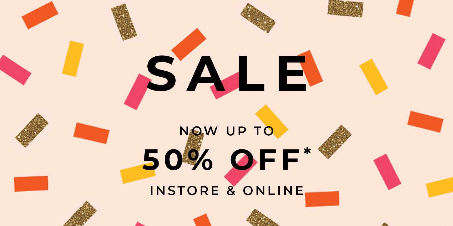 Clothing and Swimwear Sale Now On!  Up to 50% Off Instore and Online. Free Delivery*