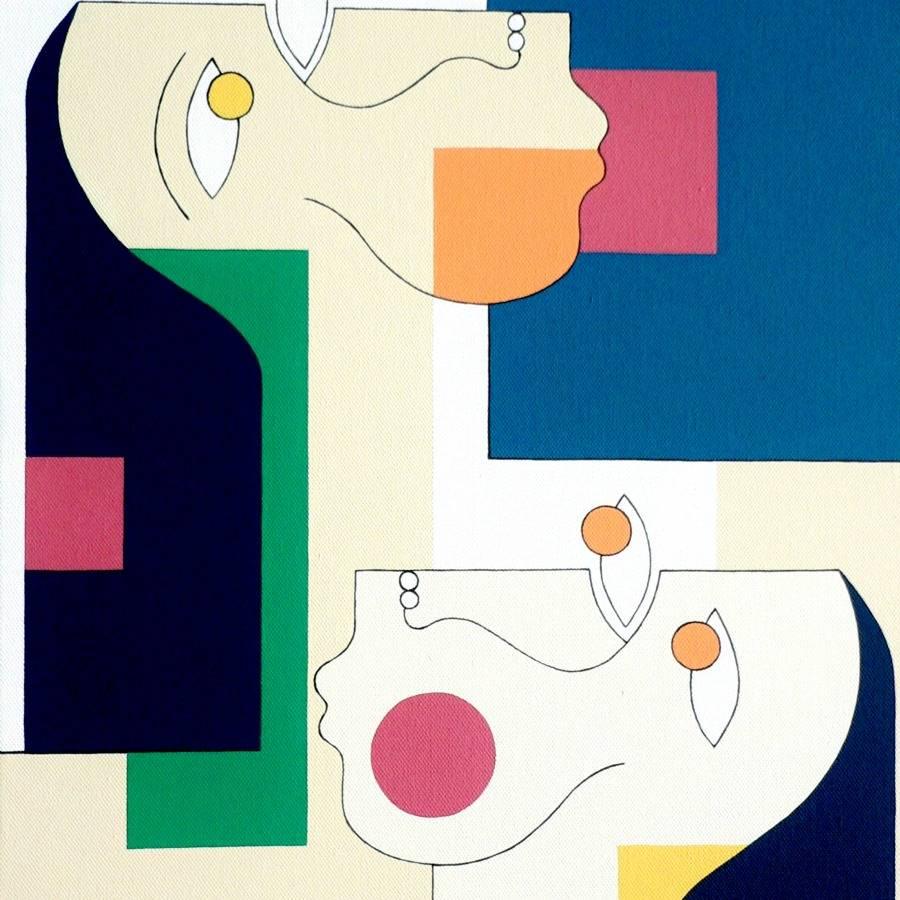 Geometric abstraction by Hildegarde Handsaeme