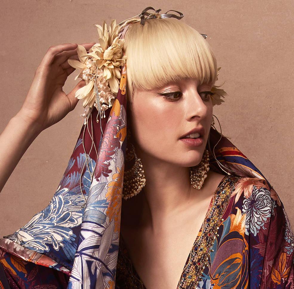 CAMILLA Nouveau Nights scarf on model