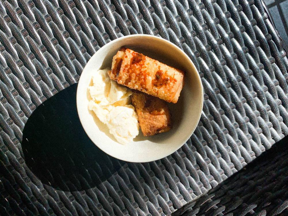 Turon: a Filipino dessert.