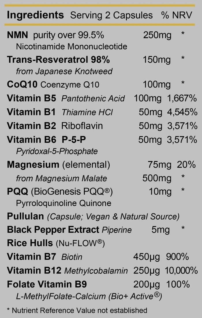 Energise 1 Ingredients