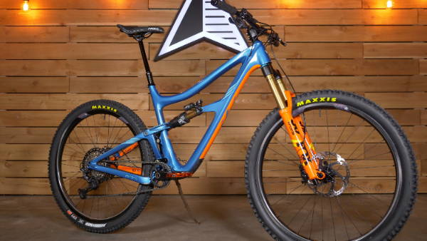 custom ibis ripmo blue orange fox 36 shimano float x2 carbon mountain bike mtb enduro