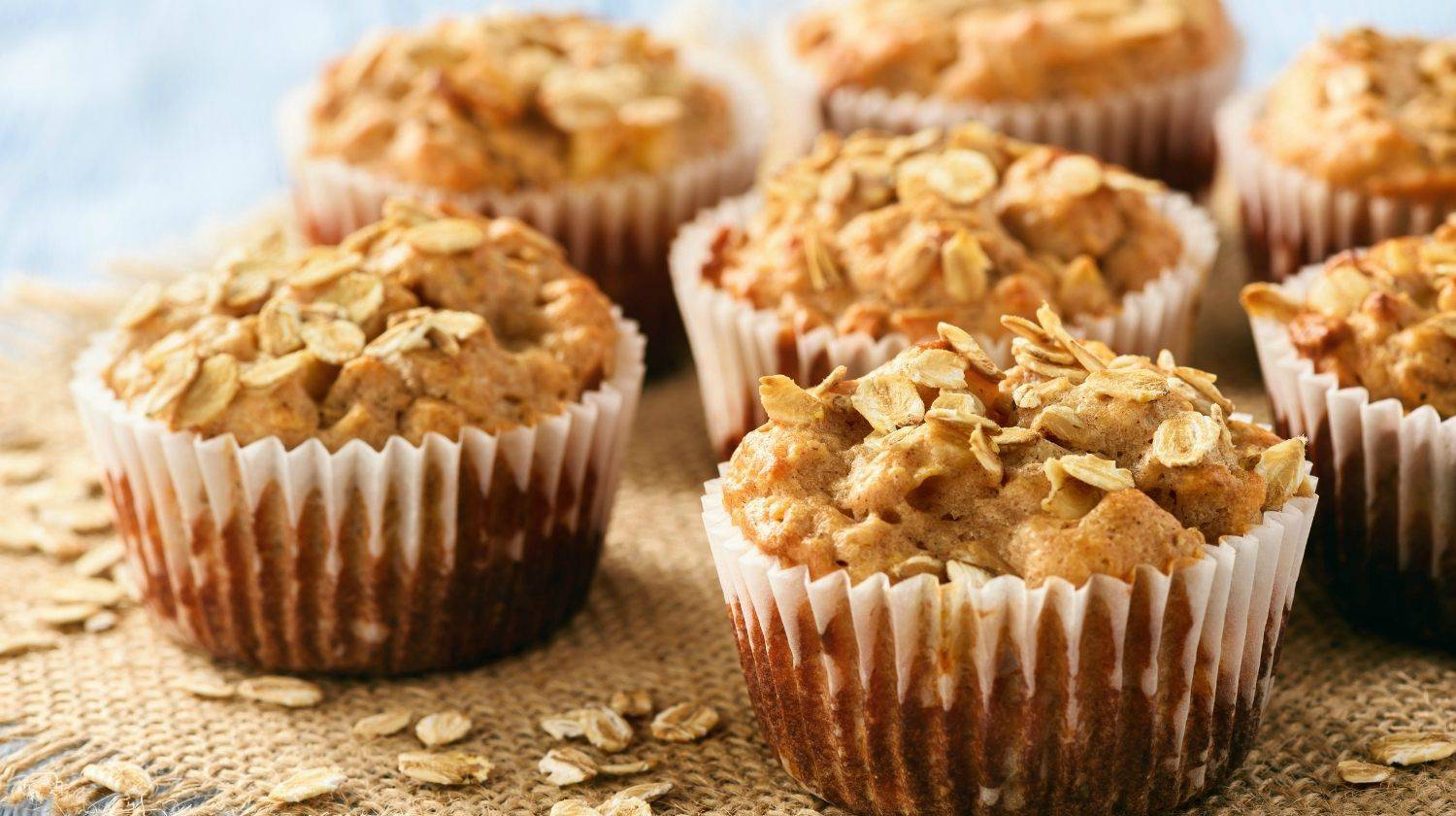 Featured | Oat muffins with apples and cinnamon | The Best Vegan Secret Chickpea Muffins