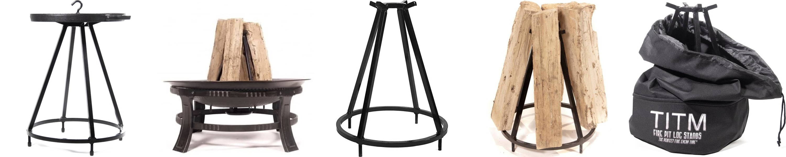 TITM Fire Pit Log Stands