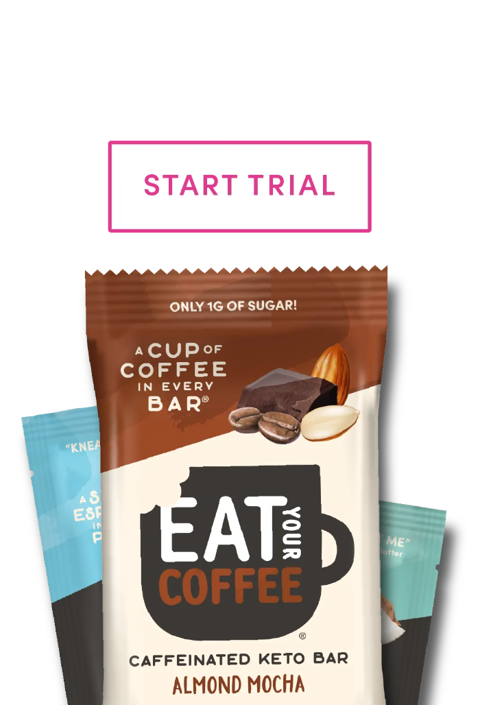 Caffeinated Keto Snack Bars and Nut Butter
