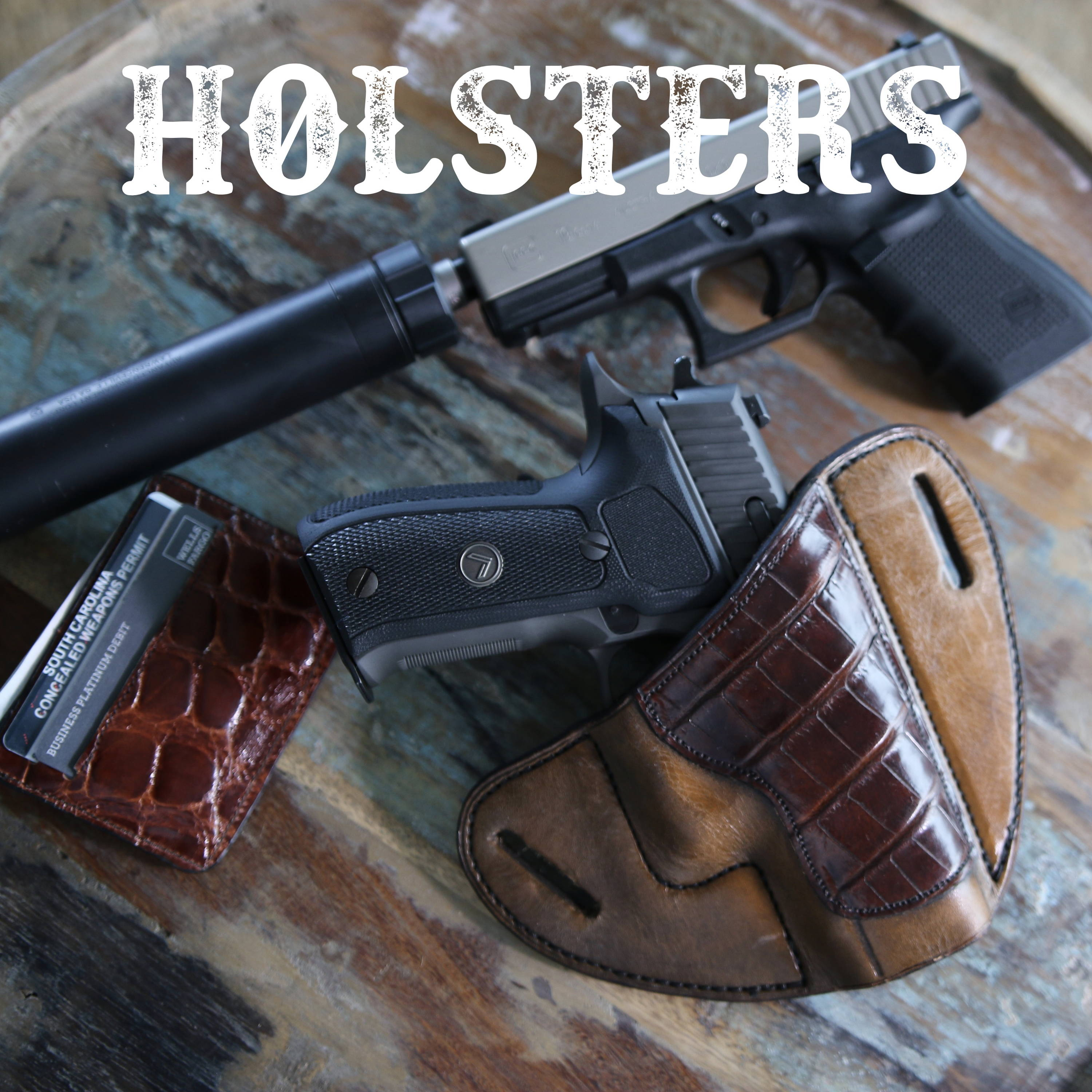 Leather Holsters - IWB and OWB Leather Holsters - 100 Year Warranty