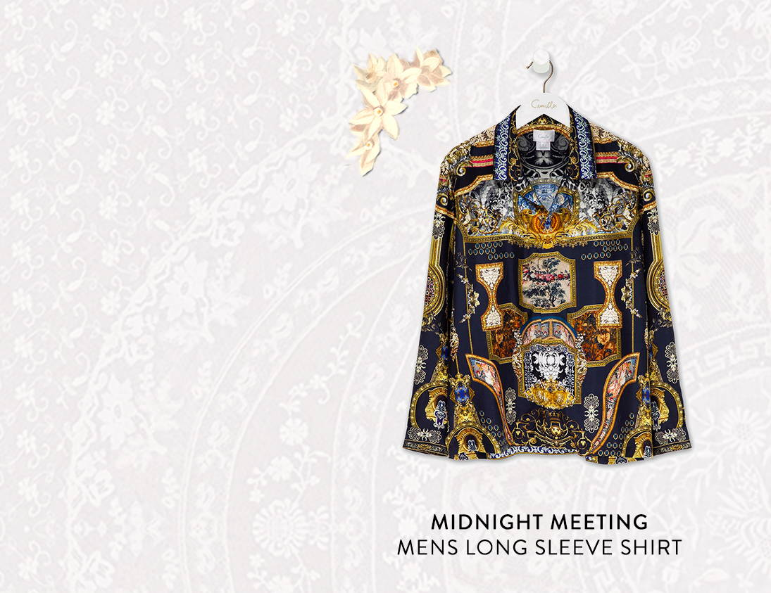 Shop Midnight Meeting Mens Long Sleeve Shirt