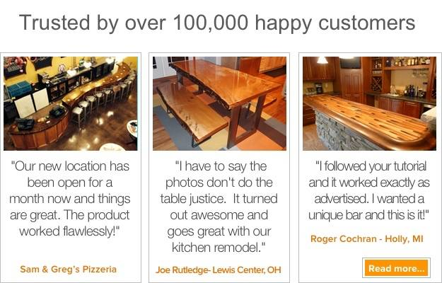 Over 100,000 happy UltraClear Epoxy Customers