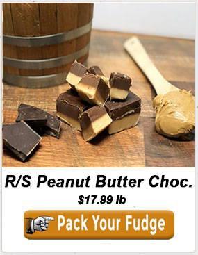 Reduced Sugar Peanut Butter Chocolate Fudge