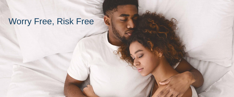 <Hope mattress, 120-day trial, sleep guarantee, worry free, risk free>