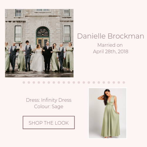 green infinity bridal party real wedding