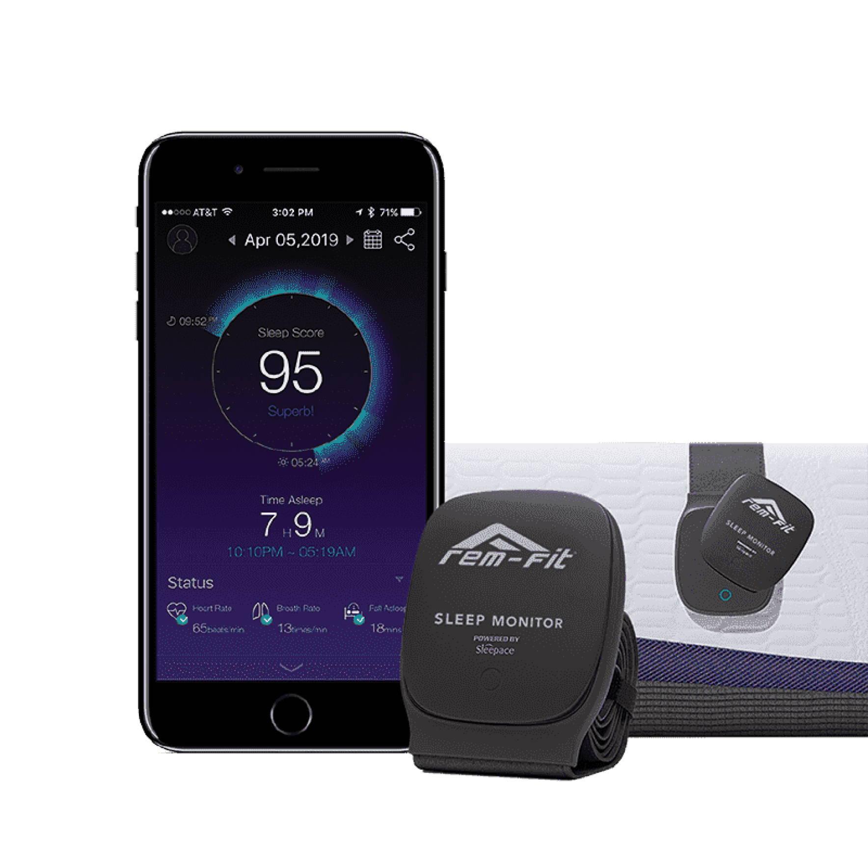 Optimal Sleep page. REM-Fit sleep tracker