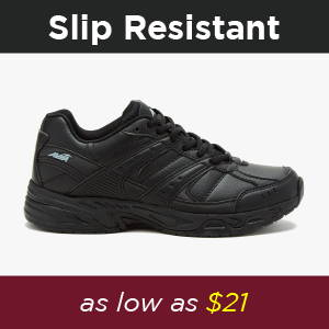 Shop Avia Womens Slip Resistant shoes, the perfect Service shoes for restaurant employees, waiters, waitresses and more at 30% off for an insanely cheap price. Perfect gift for family and friends for the holiday. Black Holiday special deals, 30% off