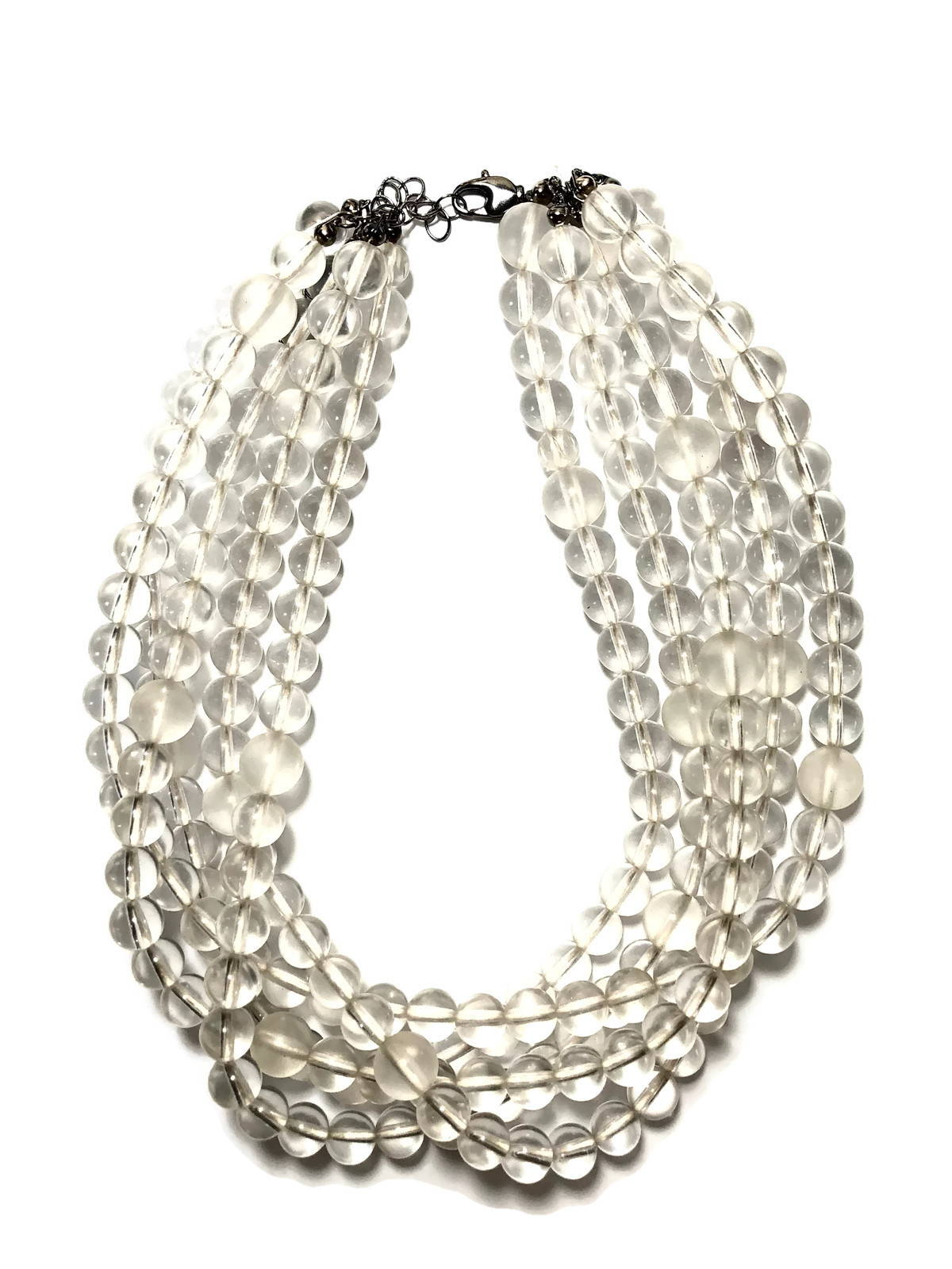 clear syvlie necklace