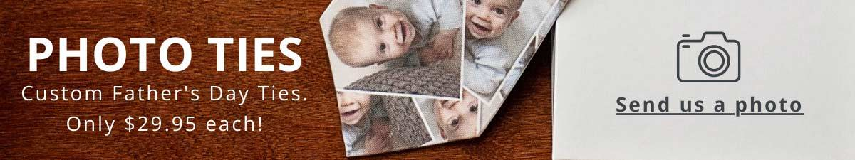 Custom photo of baby on necktie for Father's Day