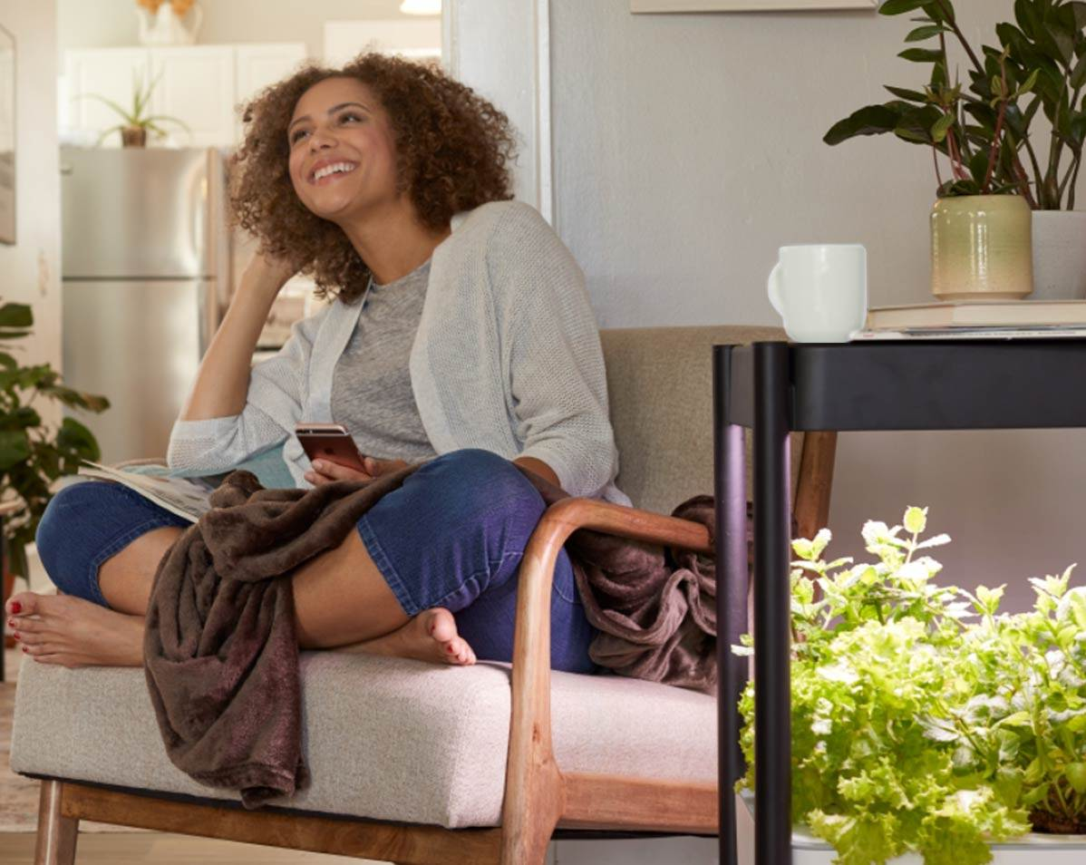 Miracle-Gro® Twelve™ Indoor Growing System in living room