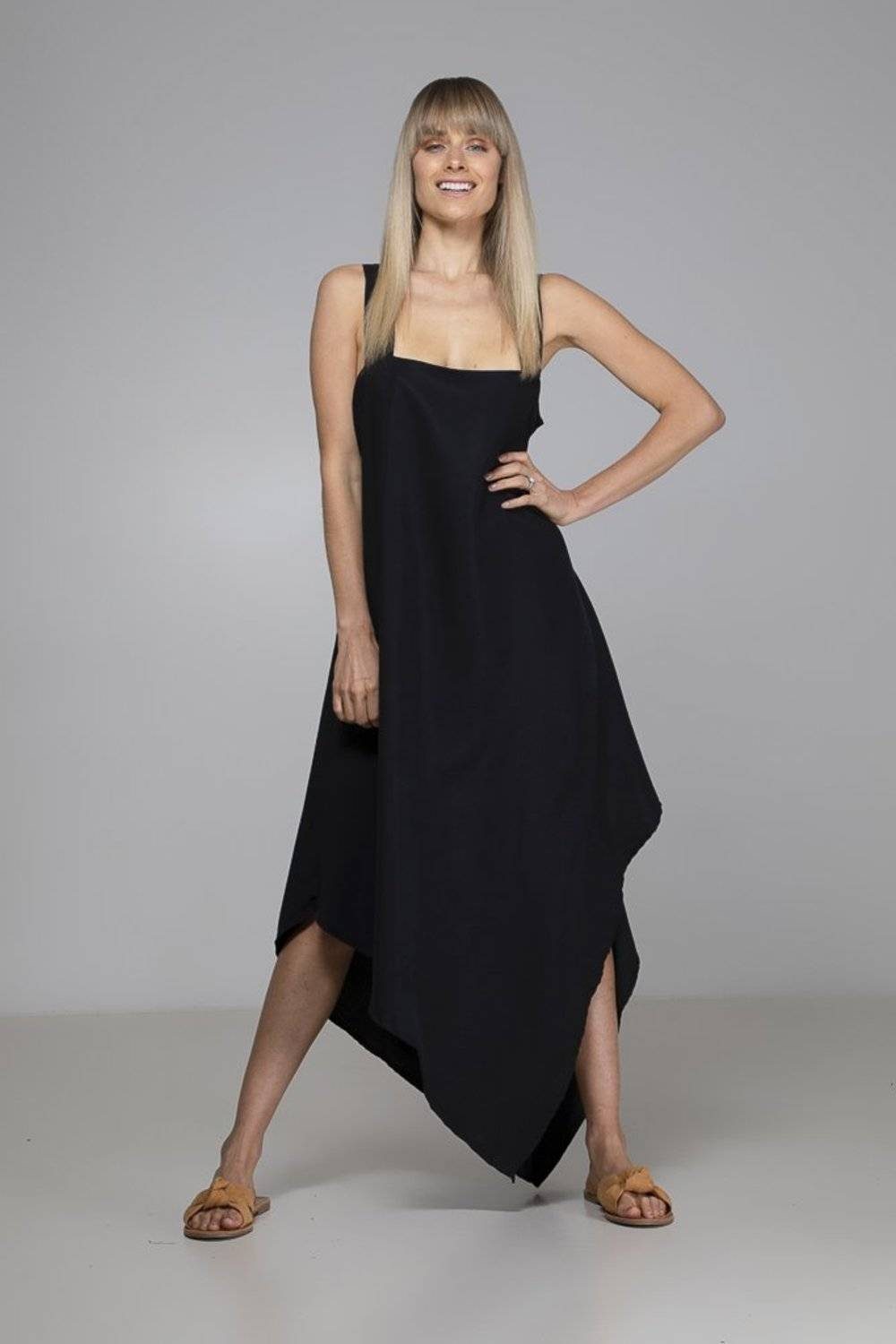 With its relaxed fit & gorgeous open back, the organic bamboo Black Peyton Dress from Indecisive will become your go-to Summer dress.