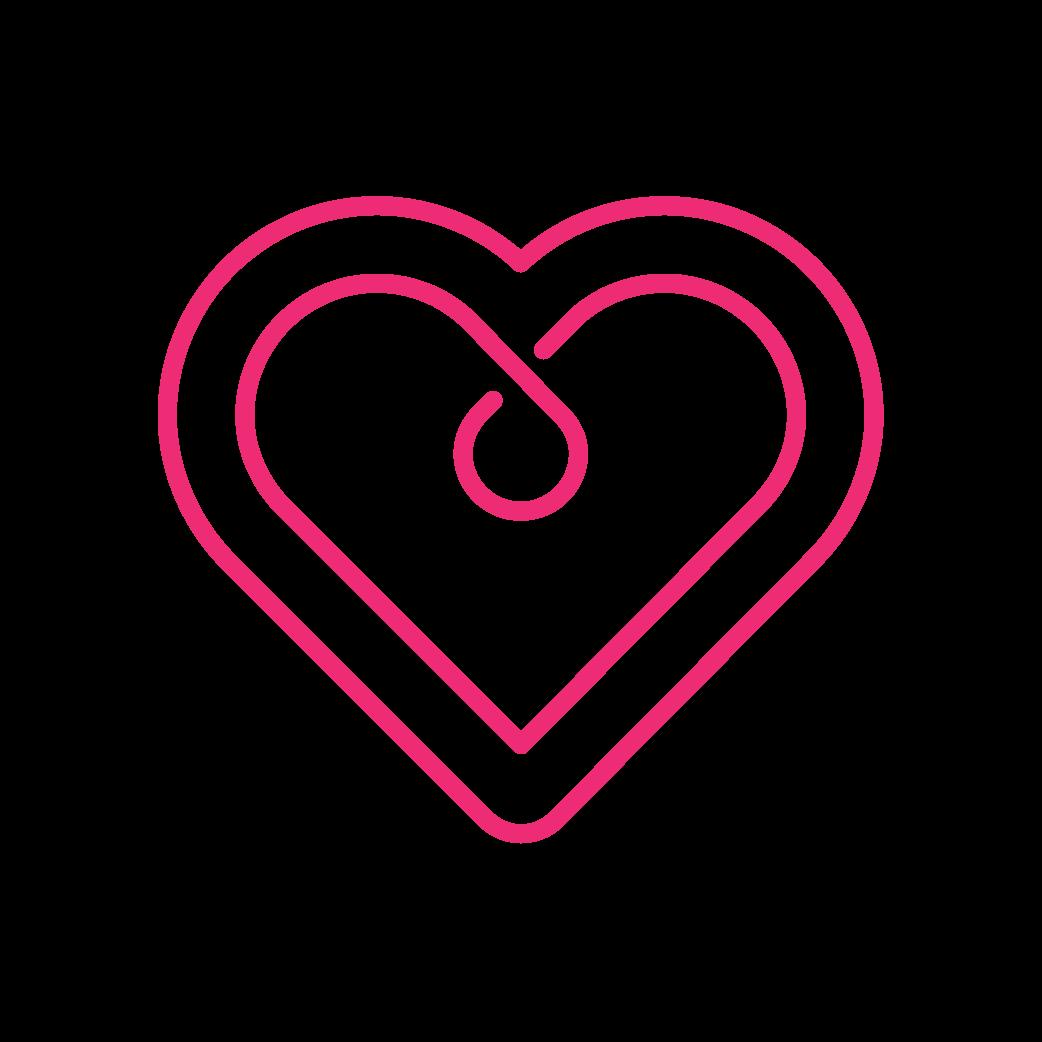 neon heart icon