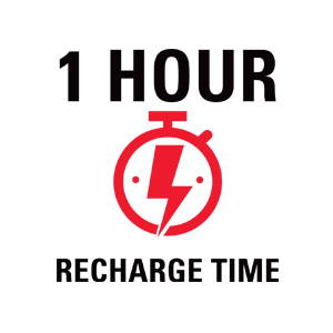 1 hour recharge time