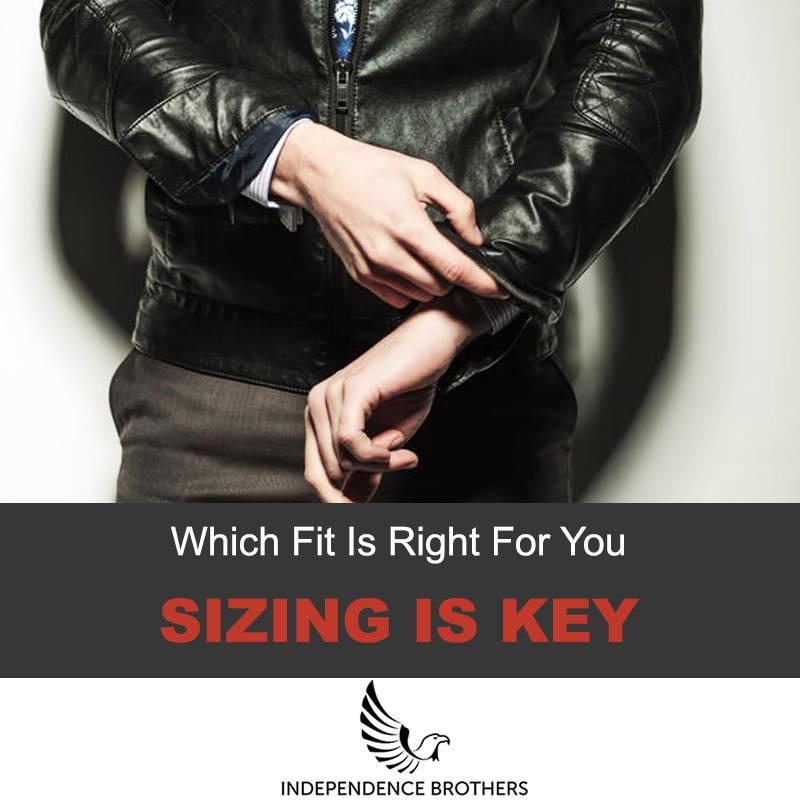 Leather jacket size