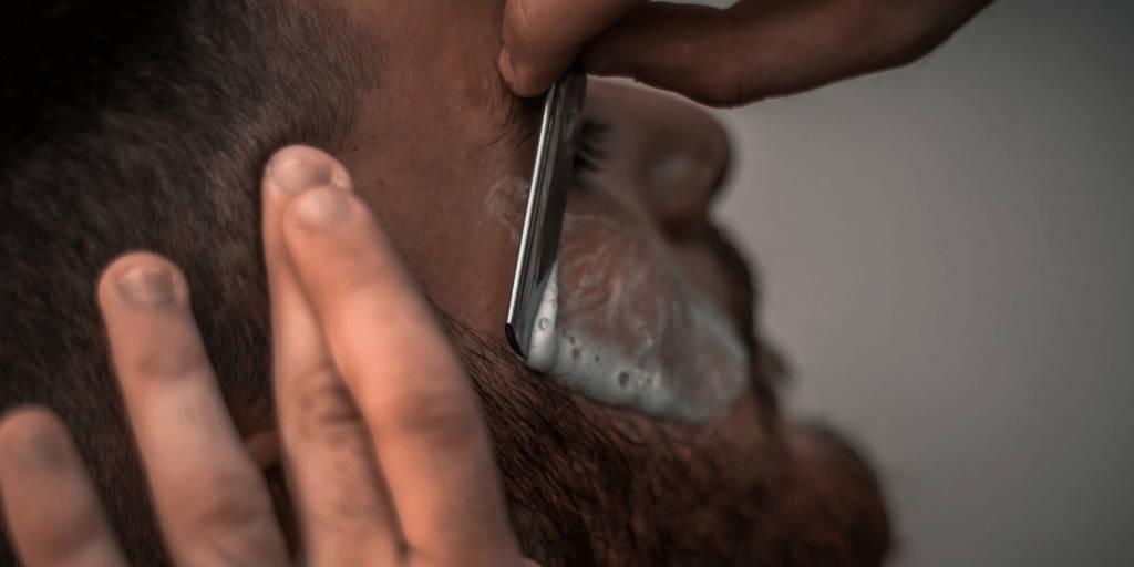 Close shave with straight razor