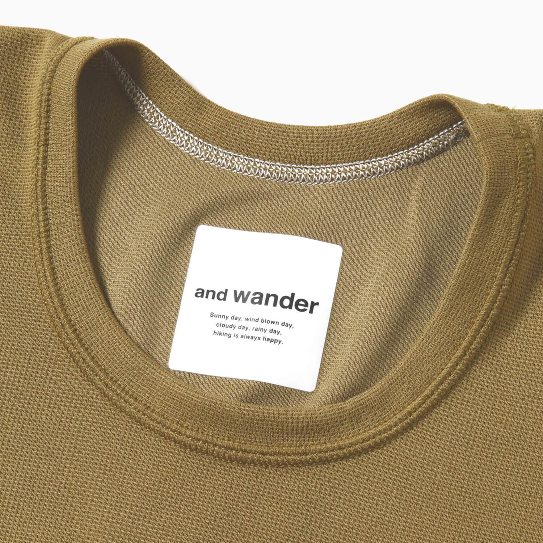 andwander(アンドワンダー)/パワードライ ジャージーショートスリーブT/グレー/WOMENS