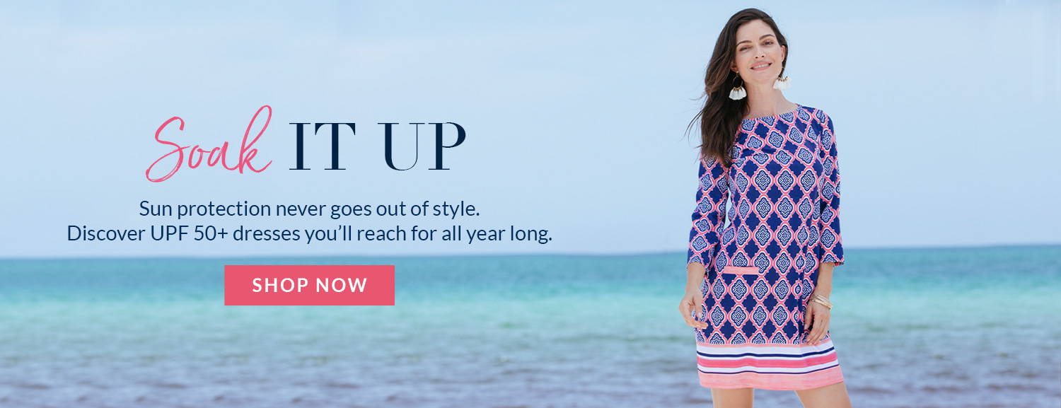 Discover UPF 50+ dresses you'll reach for all year long. Shop dresses now.