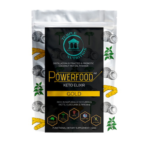 Powerfood MCT Keto Elixir - GOLD Turmeric & Black Pepper