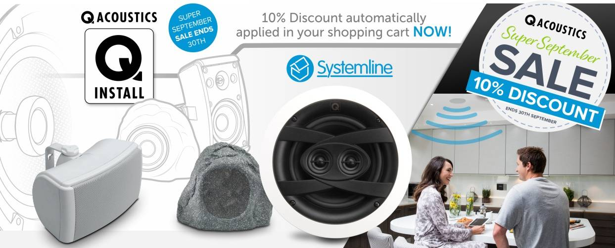 Q Install and Q Acoustics 10% Discount at Audio Volt in the month of September