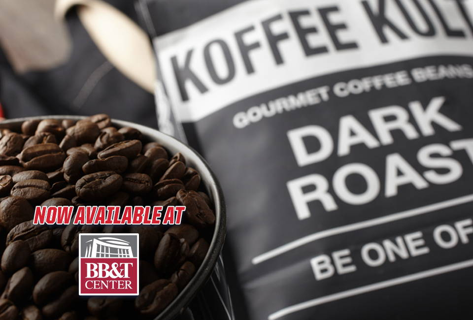 Koffee Kult dark roast coffee now available at BB&T Center