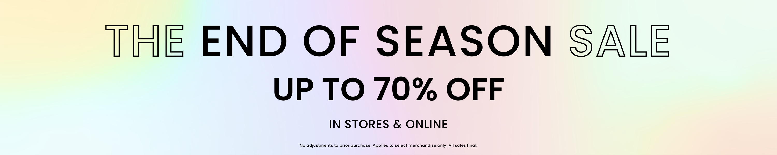 The end of season sale
