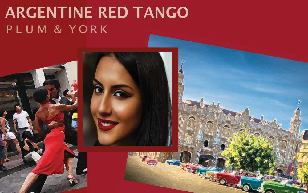 Argentine Red Tango lipstick by Plum & York
