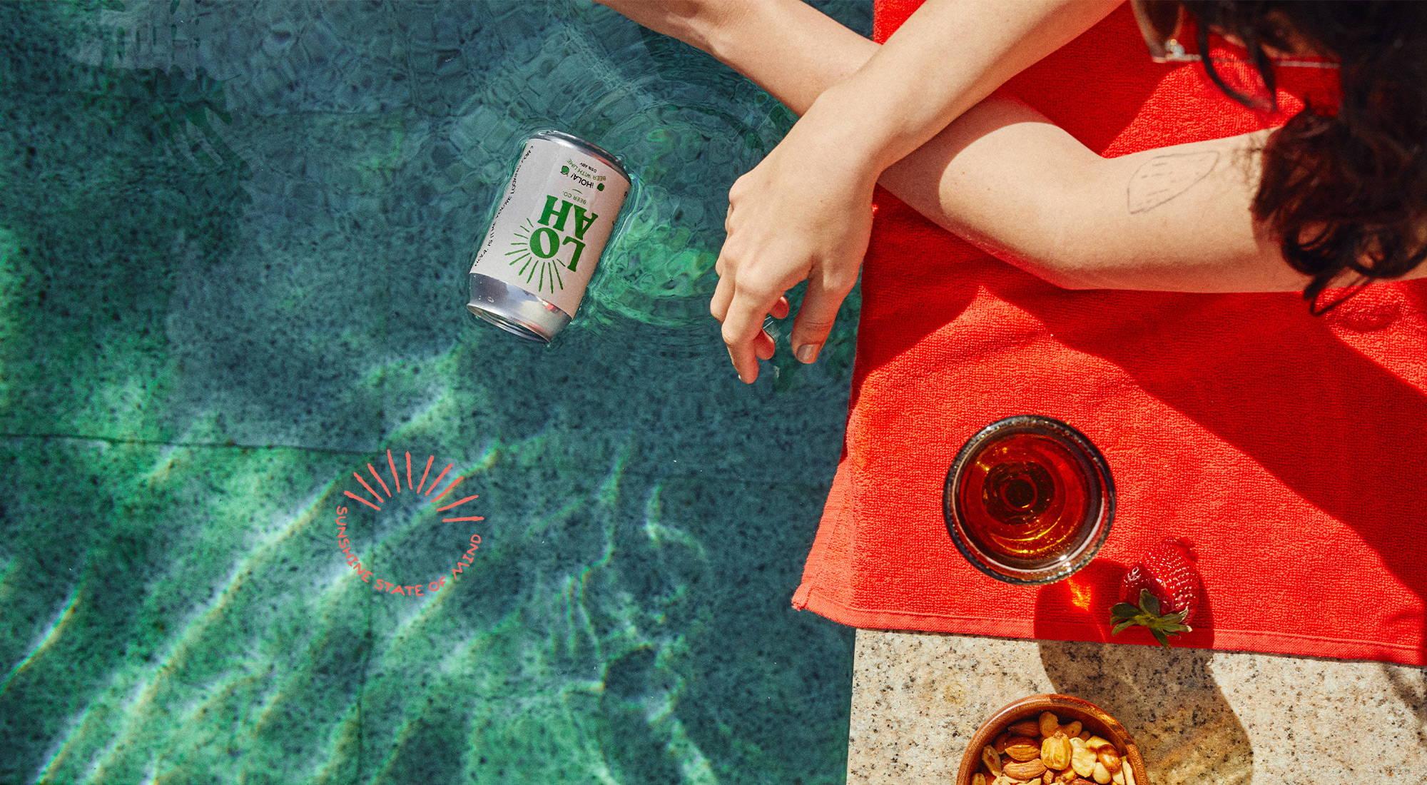 Loah Beer enjoyed poolside in the sunshine