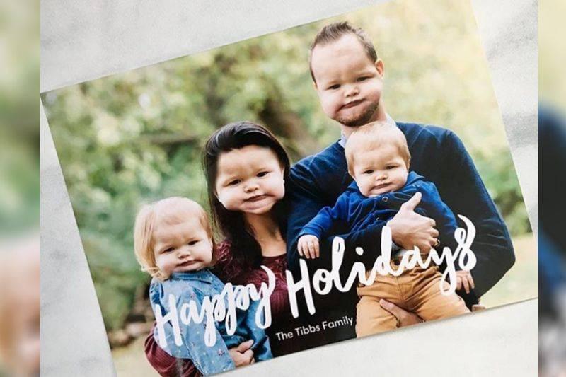 Baby Face Swap Christmas Card
